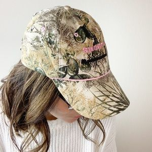 Gameguard camo hat with pink Shorty lettering J